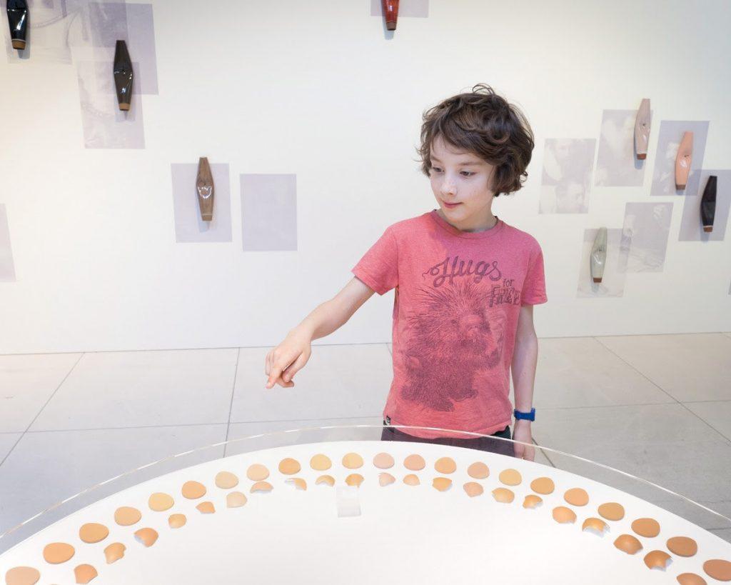 Egg shells as a skin, 2018, Caroline Cotto